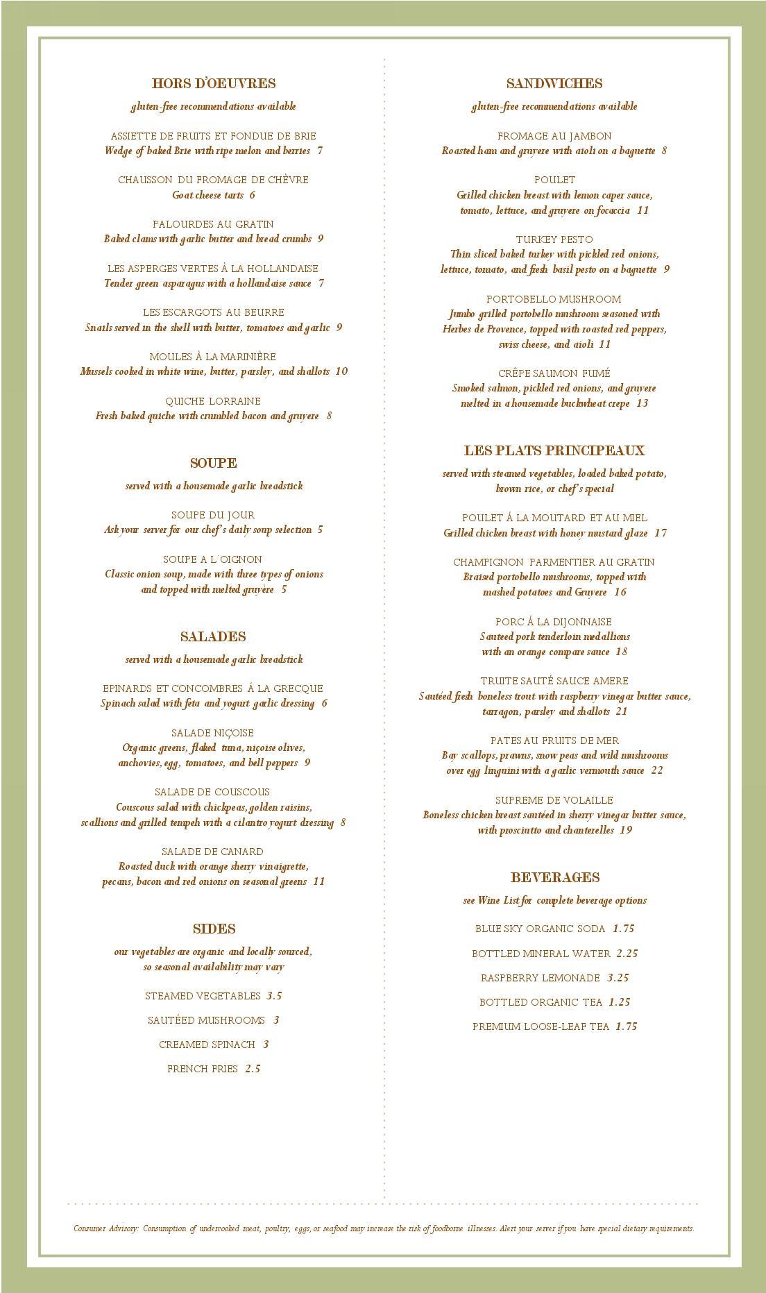 fancy dinner menu template - cancel save