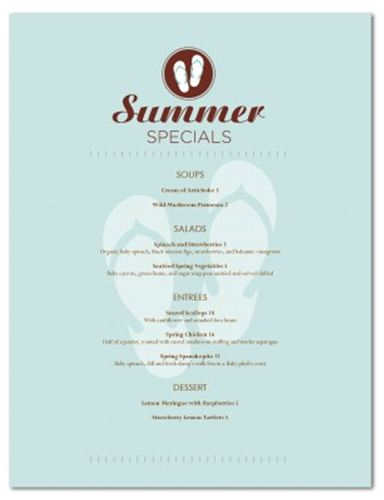 Design Of The Week Summer Event Menu Musthavemenus Blog