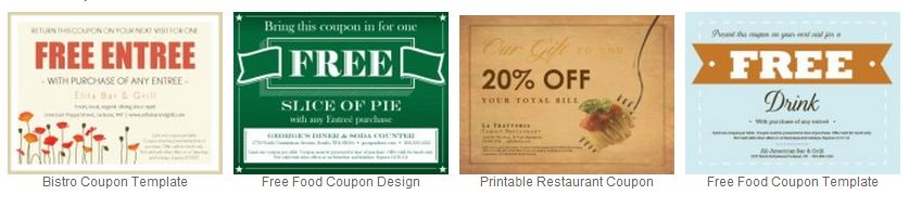 Email restaurant coupons