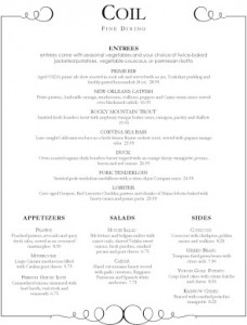 fine dining food menu - Menu Design Ideas