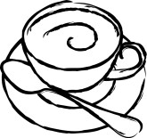 Coffee Cup with Saucer Clipart