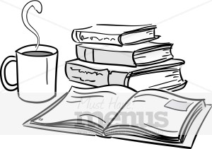 Coffee and Books Clipart