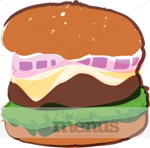 Cheeseburger Clipart | Fast Food Clipart