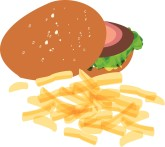 Burger and Fries Clipart