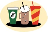 Three Beverages Clipart