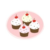 Cupcake Party Clipart