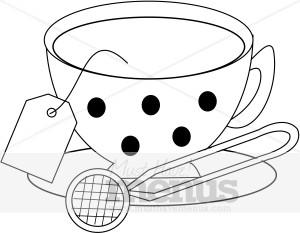 Vintage Teacup Clipart   Tea Clipart