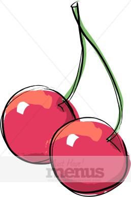 Cherries Clipart | Food Graphics