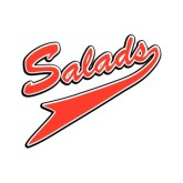 Red Athletic Salads Typography