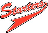 Starters Red Pennant Athletic Text