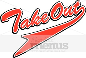 Take Out Red Pennant Script