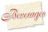 Beverages Script on Woven Mat