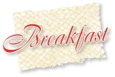 Breakfast Red Script Icon
