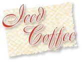 Red Iced Coffee Script on Mat