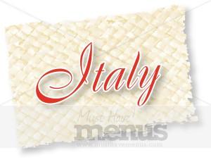 country italy on woven mat italian menu word art