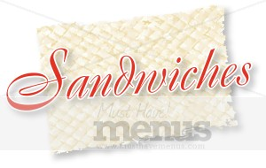 Sandwiches Script Over Woven Mat