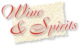 Wine and Spirits Red Script on Mat