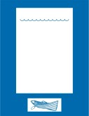 Blue Rowboat Border