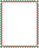 Red and Green Geometric Border