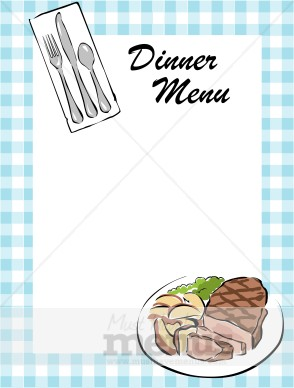 Steak Dinner Menu Border   Food Menu Borders