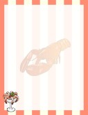 Lobster Watermark on Stripes with Shrimp Cocktail Accent