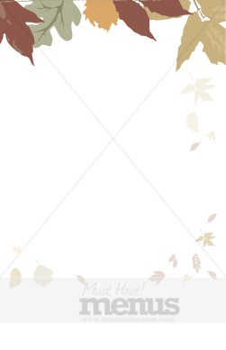 Muted Fall Leaves With Little Leaves Holiday Clipart Archive