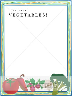 eat your vegetables border | Vegetable Clipart