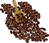 Coffee Bean Scoop Clipart