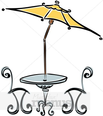 Cafe Table and Chairs Clip Art