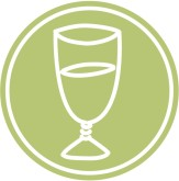 Wine Glass Logo Icon