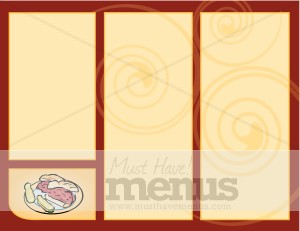 deli blank trifold takeout menu backgrounds