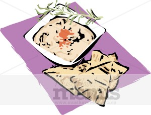 Pita Hummus Clipart Greek Food Clipart