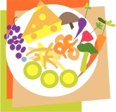 Appetizer Plate Clipart