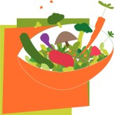 Summer Salad Clipart
