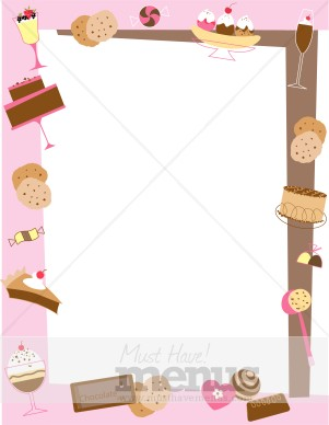 Dessert Border Food Menu Borders