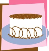 White Chocolate Cake Clipart