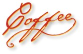 Handwritten Coffee Wordart