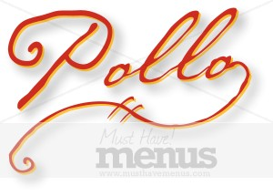 Handwritten Pollo Wordart