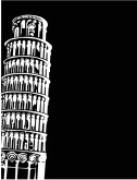 Black Leaning Tower of Pisa