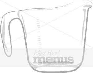 Liquid Measuring Cup Clipart