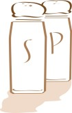 Salt and Pepper Shakers Clipart