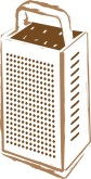 Standing Cheese Grater Clipart