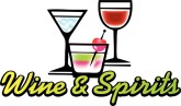 wine and spirits word art
