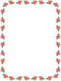 Small Poinsettia Winter Frame