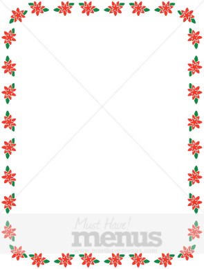 Small Poinsettia Winter Frame Holiday Clipart Archive