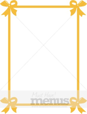 Tied Party Bows Frame in Gold