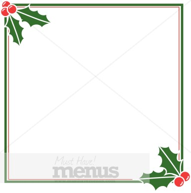 Blank Christmas Specials Card Holiday Clipart Archive