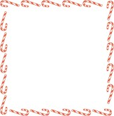 Square Spun Sugar Canes Blank Card