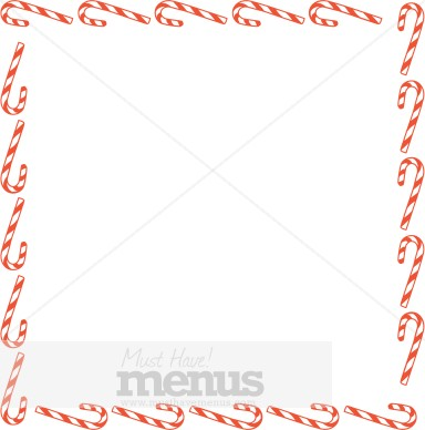 Square Spun Sugar Canes Blank Card | Christmas Menu Borders: https://www.musthavemenus.com/image/square-spun-sugar-canes-blank...