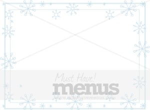Horizontal Snowflakes in Soft Blue